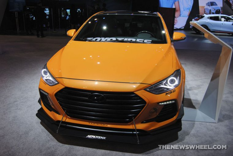 Blood Type Racing Hyundai Elantra Sport Concept orange sports car custom Chicago Auto Show (4)
