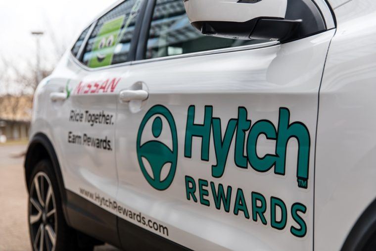 Nissan and Hytch Rewards app