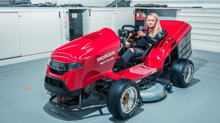 Honda Builds New Mean Mower To Reclaim Fastest Lawn Mower Record