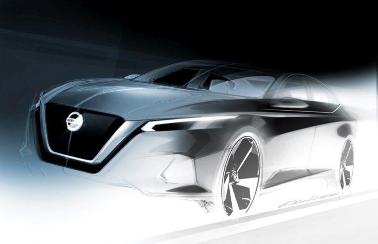 All-new 2019 Nissan Altima Exterior Design Sketch