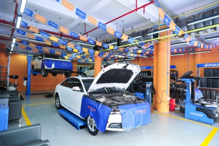 Quick Lane Tire and Auto Center China service bay