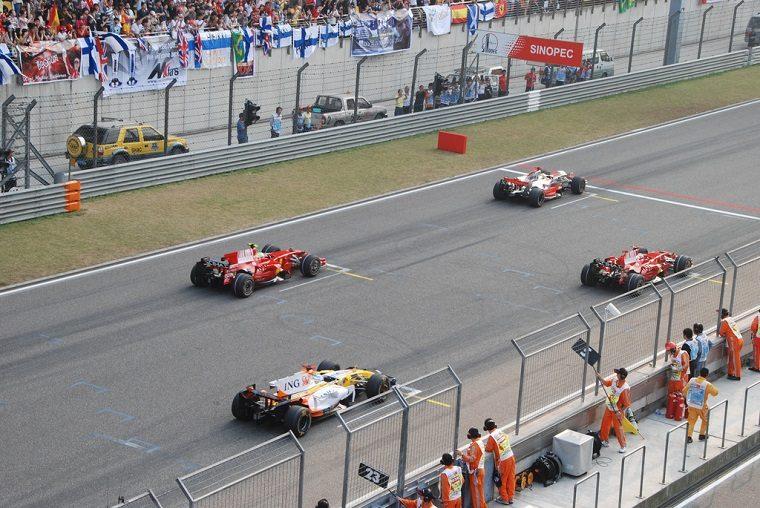 Starting Grid 2008 F1 Shanghai