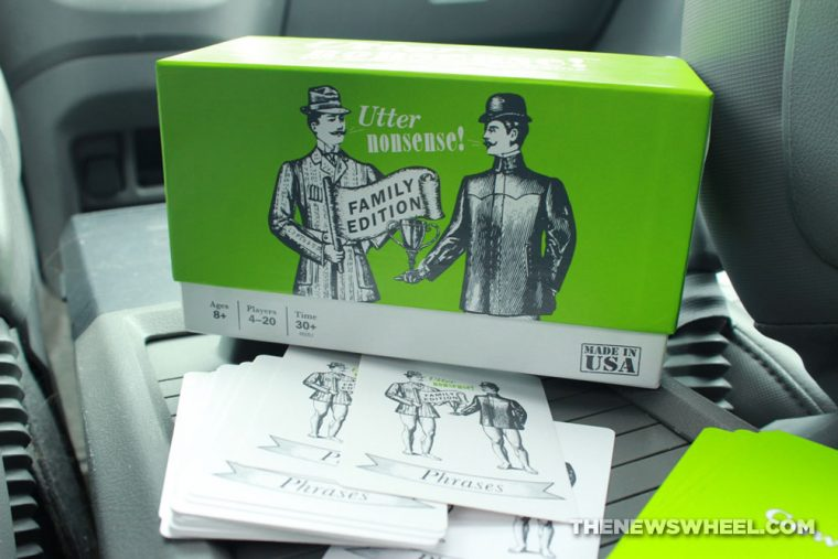 Utter Nonsense family naughty card game accents party fun road trip activity review buy editions