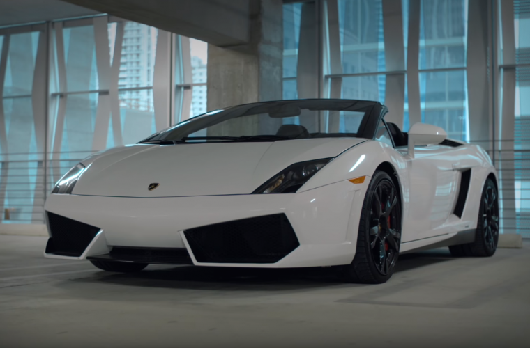 carhopper luxury car rental lamborghini white