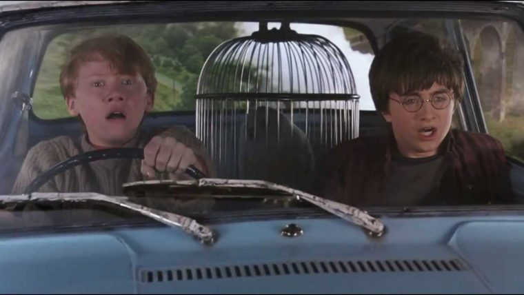 harry potter ron weasley ford anglia chamber of secrets