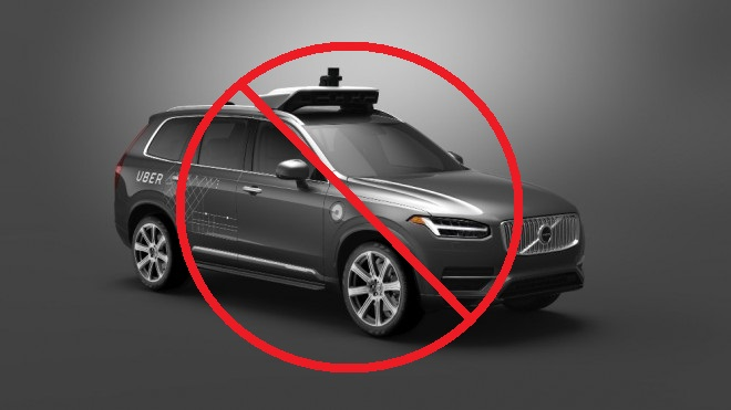 Uber self-driving volvo xc90