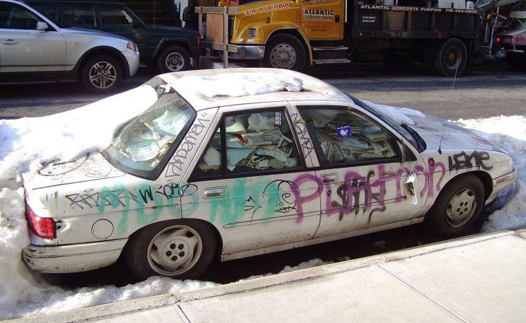 Abandoned Car Graffiti