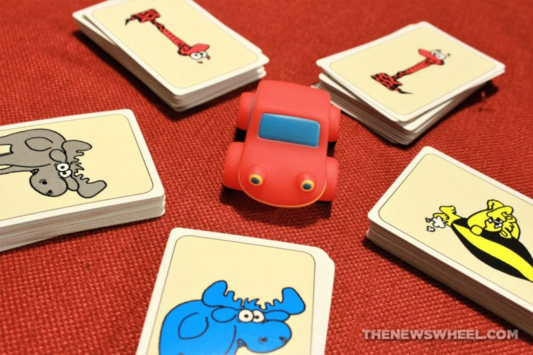 Beep Beep Valley Games Inc review matching speed card game red car automotive children layout