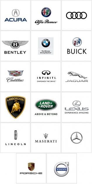 Luxury Car Brand Logos