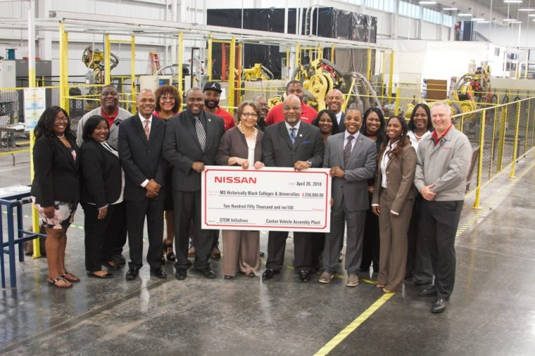 Nissan donates additional 250,000 to Mississippi HBCU STEM programs