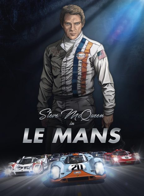 Steve McQueen in Le Mans comic book graphic novel automotive cars racing gearheads series