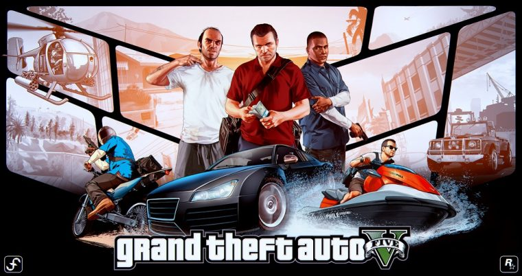 grand theft auto v game poster most successful media title ever