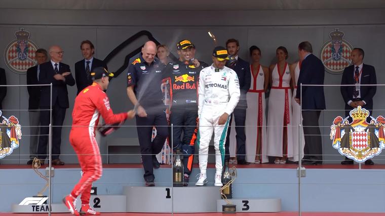2018 Monaco GP Podium