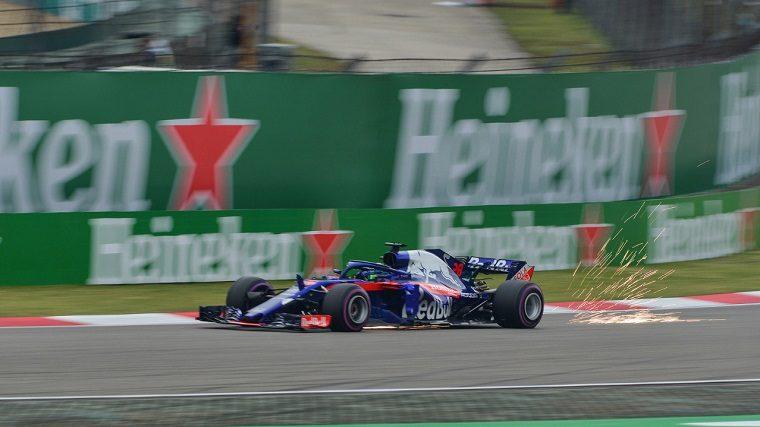 Brendon Hartley in Toro Rosso Honda