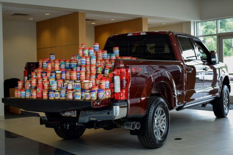 Ford Peanut Butter Drive truck