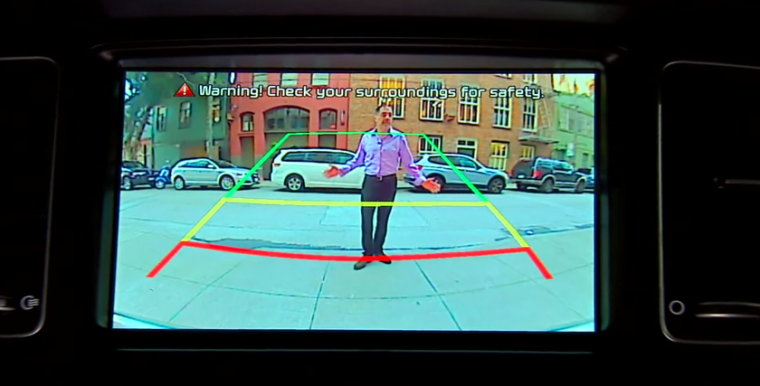 backup camera pedestrian safety rearview camera