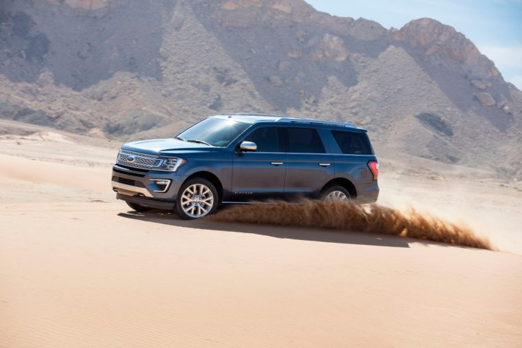 Ford Expedition testing in UAE