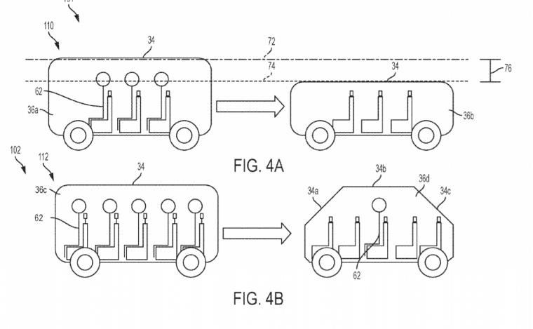 GM transforming car patent