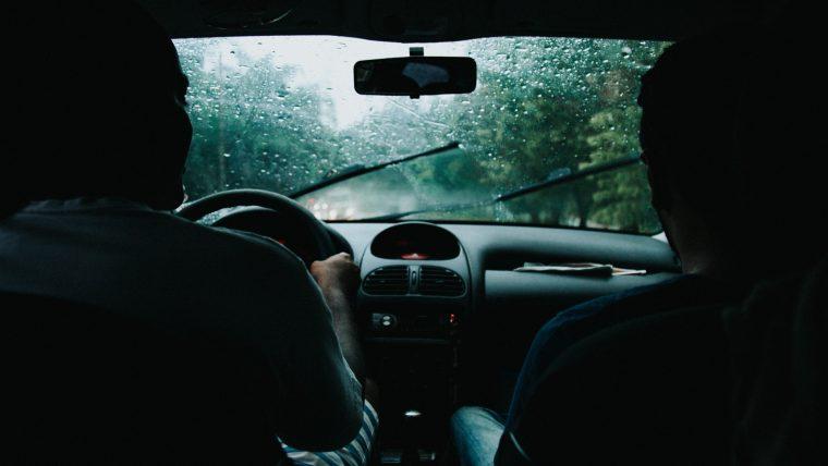 Rain in Car