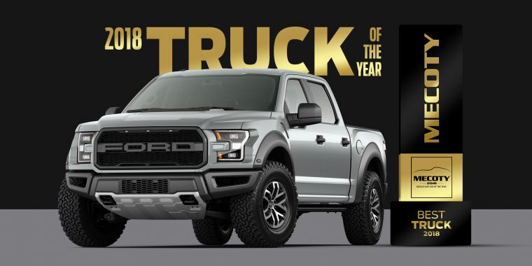 Middle East Car of the Year Truck of the Year Ford F-150 Raptor