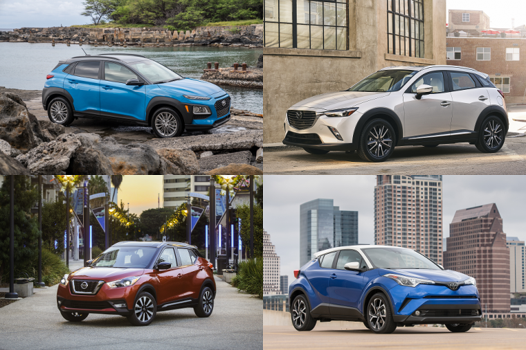 2018 Nissan KICKS Toyota CH-R Hyundai Kona Mazda CX-3
