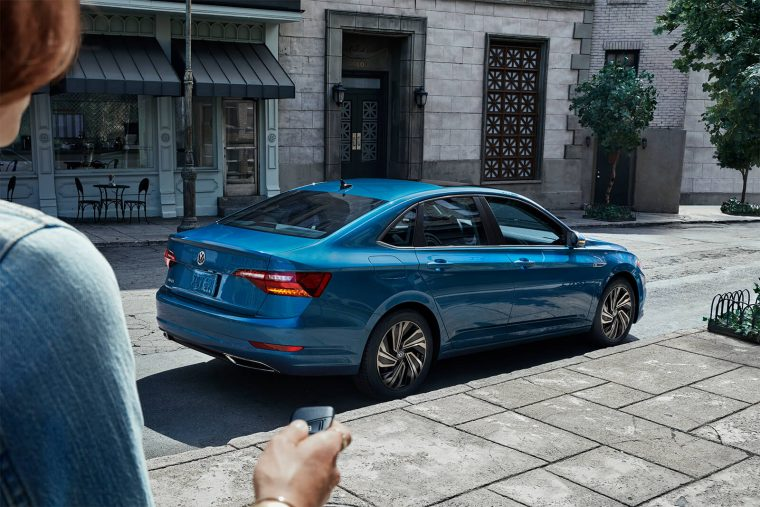 2019 Volkswagen Jetta SEL Premium Silk Blue Metallic back side