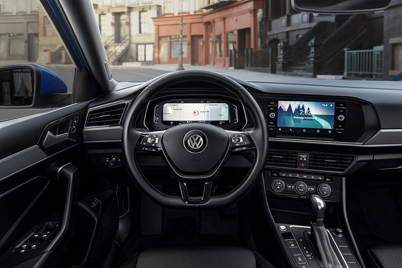 2019 Volkswagen Jetta SEL Premium Titan Black leather cockpit