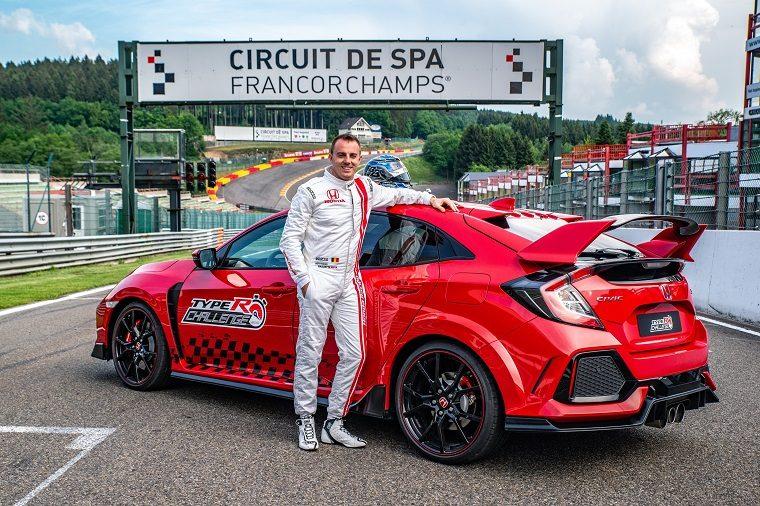 Bertrand Baguette & the Honda Civic Type R at Spa