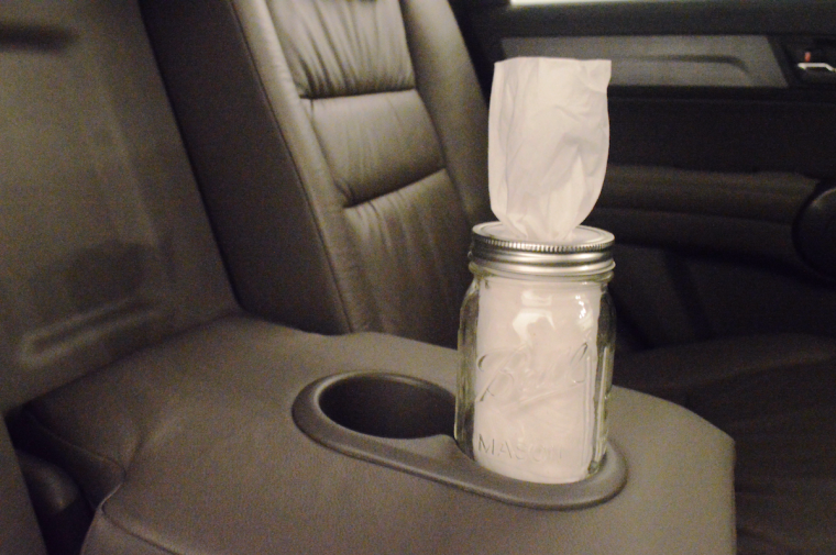 DIY Car Cup Holder Tissue Box
