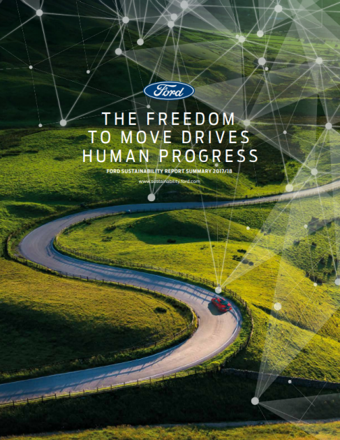 Ford Sustainability Report Cover