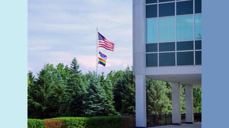 Ford World Head Quarters Pride Flag