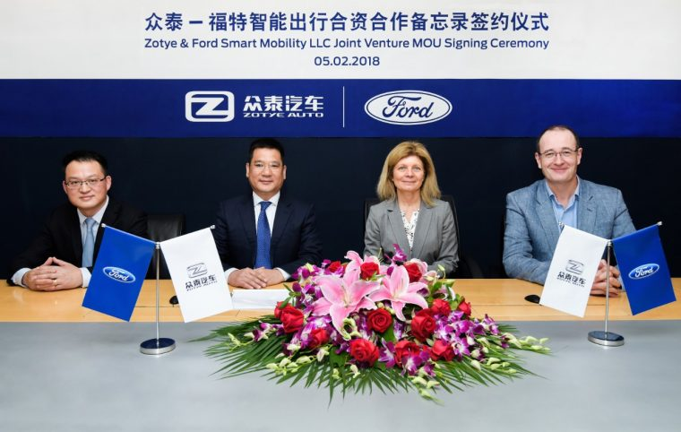 Ford and Zotye agreed to a new MoU in May