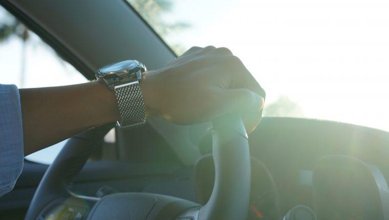Hand on Steering Wheel Jeep Wave