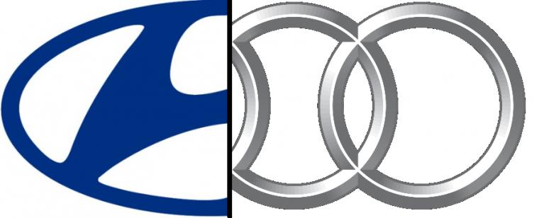 Hyundai Audi logo mashup