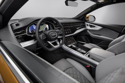 New Audi Q8 Front row
