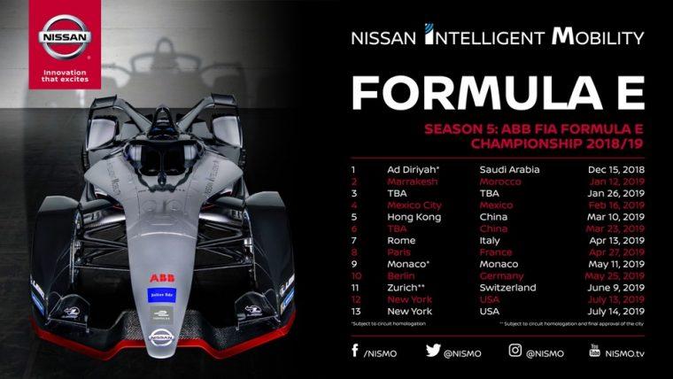 Formula E Schedule
