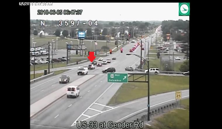 Ohio Department of Transportation reversing drive on US 33 still number 2