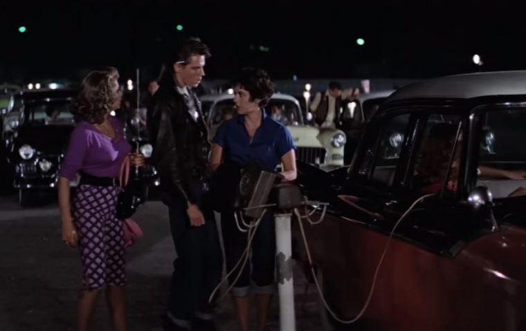 Rizzo and Kenickie at the Drive-In Grease