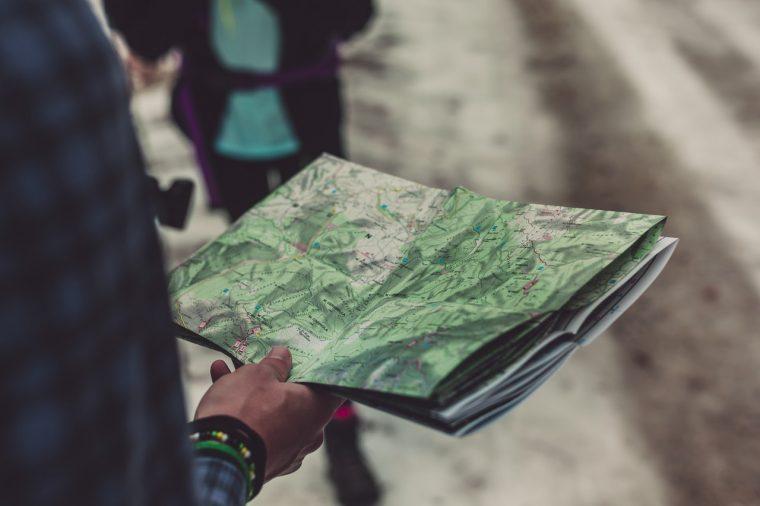 Road Trip Handheld Map