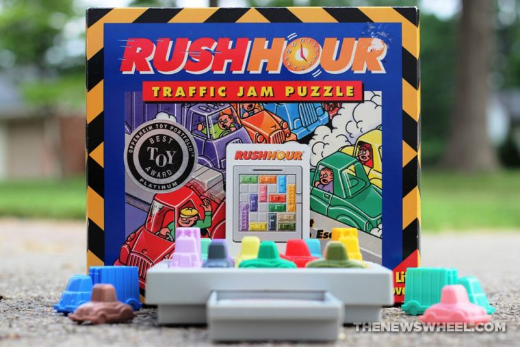 Rush Hour Traffic Jam Logic Game ThinkFun review car puzzle cover