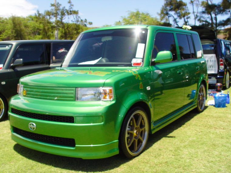 green Scion xB modified