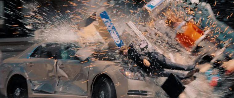 The Surrogates movie car crash explosion vehicle scene
