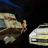 dallas and robo youtube series space travel cars couple
