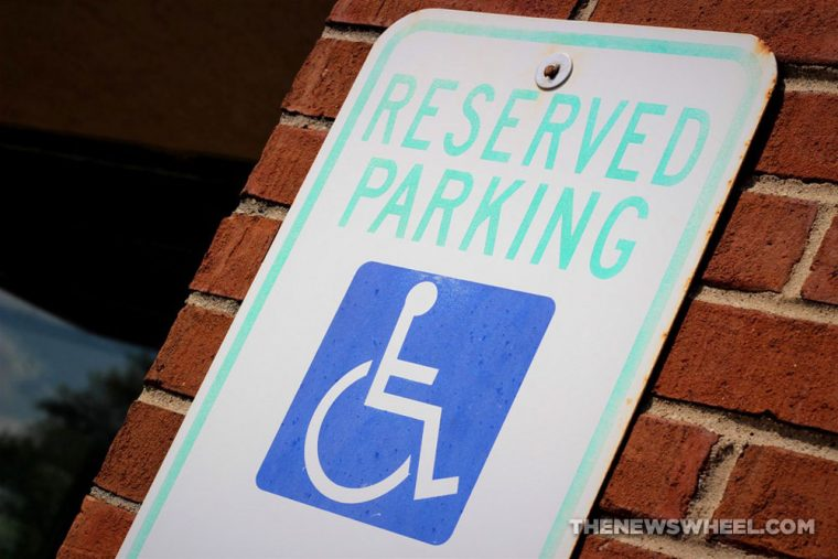 handicap parking space disability car vehicle law sign blue