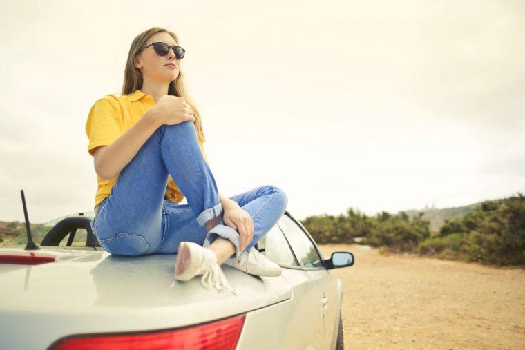 Girl Car Road Trip