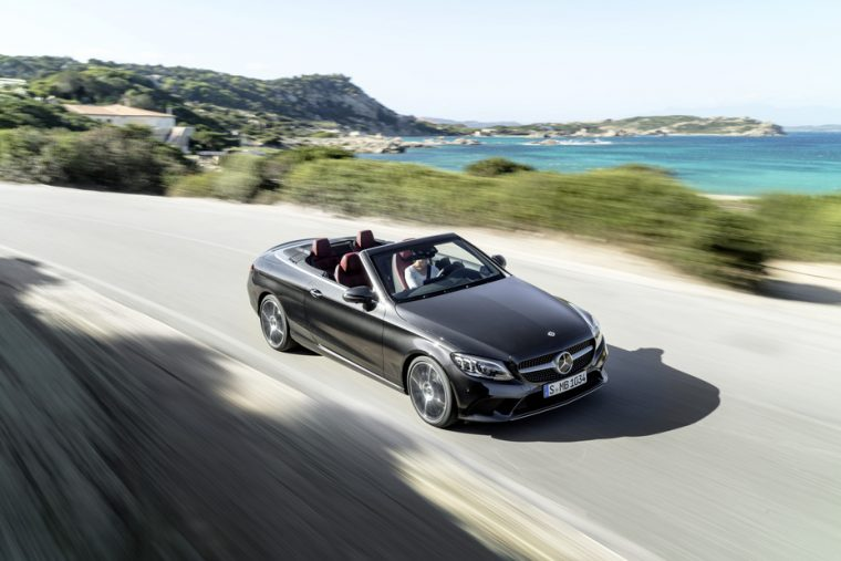 2019 Mercedes-Benz C300 Cabriolet driving front