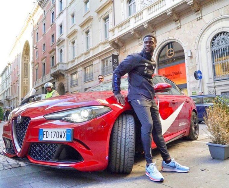 Alfa Romeo Giulia Quadrifoglio Nike Kevin Hart Instagram