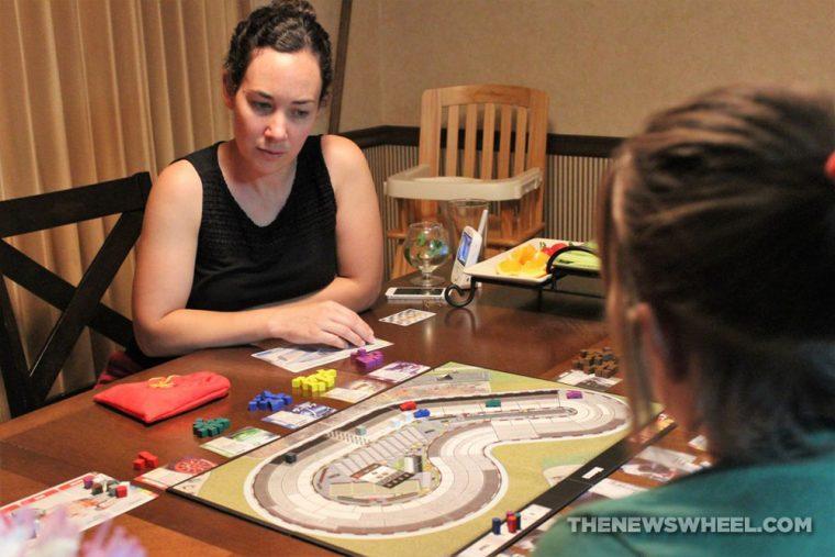 Automobiles review AEG car racing board game motorsports gearhead fun players