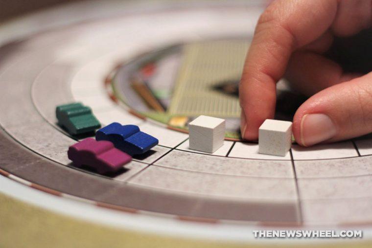 Automobiles review AEG car racing board game motorsports gearhead fun race track