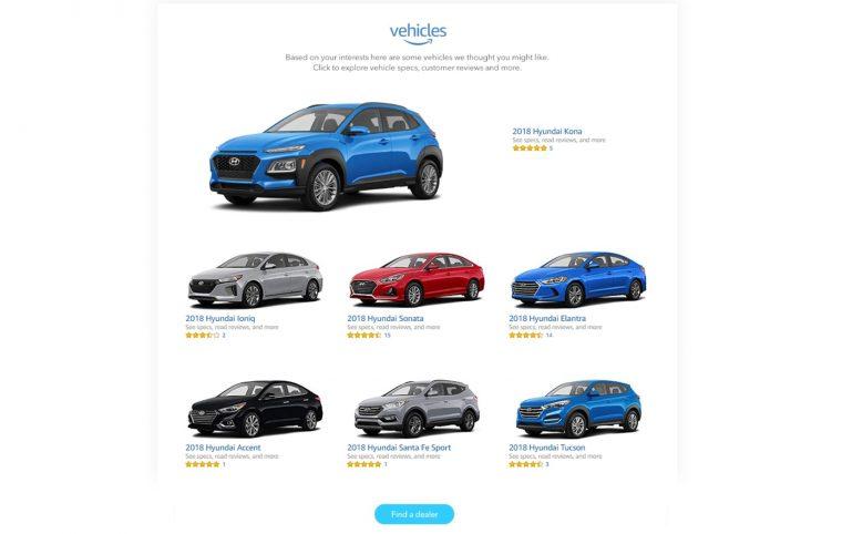 Hyundai Amazon.com Digital Showroom